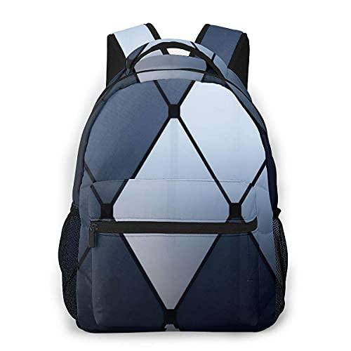 Lawenp Mochila Unisex de Moda Mochila con patrón de Diamante Negro Gris Mochila Ligera para portátil para Viajes Escolares Acampar al Aire Libre