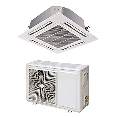 24000 BTU 16kW Super Slim DC Inverter Round Flow Ceiling Cassette Air Conditioner - 4-Way Round Flow Air Conditioning Unit with Heat Pump