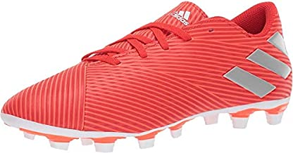 adidas Men's Nemeziz 19.4 Firm Ground Soccer Shoe, Active Red/Silver Metallic/Solar Red, 6.5 M US
