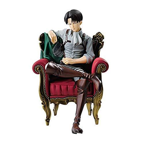 Angriff Auf Titan Anime Figuren Levi Ackerman Schwarzer Anzug PVC Sitzen Weiche Aktion Figma Rivaille Brinquedos Ichiban Puppenmodell