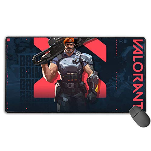 Valorant Game Brimstone Large Gaming Mouse Pad Waterproof Non-Slip Rubber for Pc Computer Laptop 15.8X29.5 in(40Cm X 75Cm)