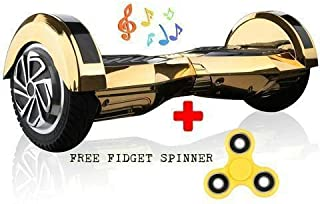 Gold Lamborghini Hoverboard Lambo Super Fast Safe Smart Two Wheel Self Balancing Electric Scooter Rider Hover Board Skateboard Fly Glider Roller UL2272 Certified