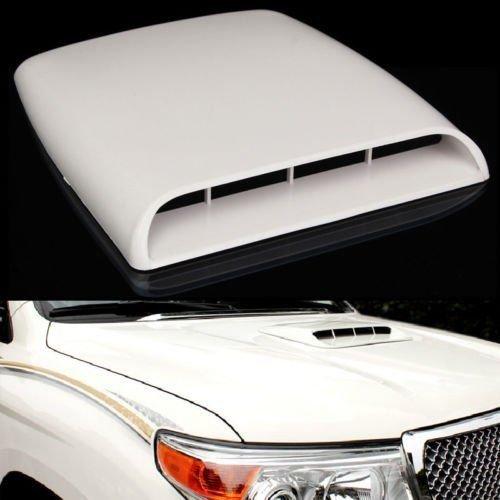 Prise d'air universelle décorative blanche pour capot de voiture