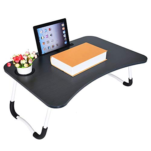 Foldable Laptop Table - Lightweight Notebook Stand Bed Lazy Laptop Table Small Desk - Portable Outdoor Camping Table - Breakfast Serving Bed Tray with Legs - Best Gift for Adults/Students/Kids