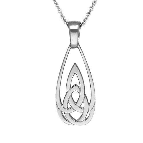 Sterling Silver Traditional Scottish Celtic Eternity Knotwork Hand Crafted Necklace Pendant