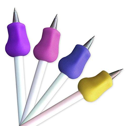 4 Stk. JUYUAN-EU Ergonomische Schreibhilfen für Stifte   Griffverdickung   Stiftehalter   4 Pack in verschiedenen Farben für Rechtshänder und Linkshänder