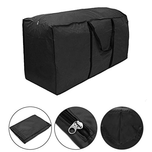 Zyurong® Jardin Coussin d'assise Sac de Rangement étanche léger Sacoche de Transport, Polyester, Noir, 116 x 47 x 51 cm(Black)