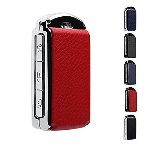JYXZQZZ ZQZHEN Caja de Clavos de Cuero de aleación Caja de protección de Clavija Ajuste para Volvo XC90 XC60 XC40 V90 S90 T5 T6 T8 Llavero