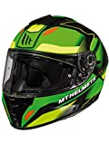 MT Casco Moto 2019 Blade 2 Sv Fugue Fluorescent Verde Fluorescent Giallo (M, Verde)