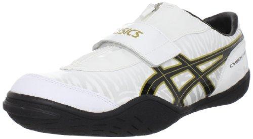 ASICS Men's Cyber Throw London Track Shoe,White/Black/Gold,5 M US