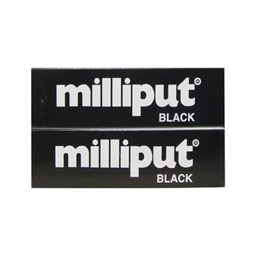 Milliput Epoxy Putty - Black 113.4g Kit - 2pk
