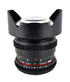 Rokinon Cine CV14M-C 14mm T3.1 Cine Wide Angle Lens for Canon with De-Clicked Aperture and Follow Focus Compatibility 14-14mm Wide-Angle Lens (B0094AYSSW) | Amazon price tracker / tracking, Amazon price history charts, Amazon price watches, Amazon price drop alerts