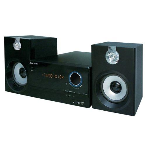 Majestic AH 2347 BT MP3 USB - Sistema Micro Hi-Fi con Bluetooth, Lettore CD/MP3, Radio FM PLL, Ingresso USB e telecomando, Nero