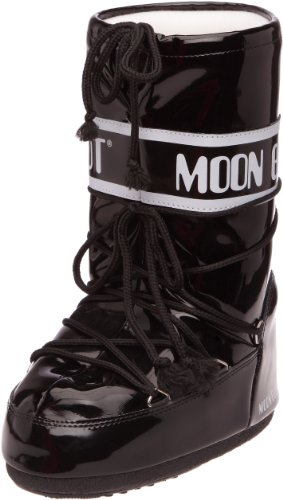 Moon Boot, Moon Boot Vinil, Stivali, Unisex- adulto, (Nero/Bianco 002), 35/38