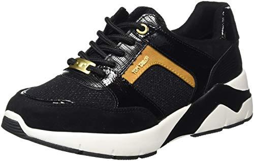 Tom Tailor 9092901, Zapatillas Mujer, Negro, 37 EU