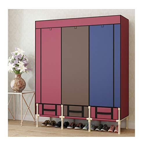 LJP Armario de almacenamiento portátil para armario, organizador de armario, rápido y fácil de montar, resistente, resistente, duradero, portátil, color