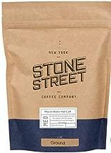 Stone Street HALF CAFF Ground Coffee, 50% Swiss Water Process Decaf Coffee and 50% Regular Caffeine Blend, Medium Roast, 1 LB
