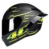 Fibra di carbonio casco integrale del motociclo anti nebbia Suanproof...