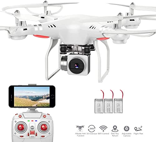 RC Drone,WiFi 4K HD Camera Live Video RC Quadcopter with...