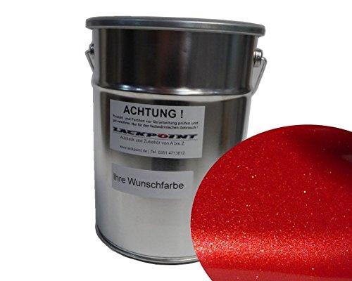 Lackpoint 1 Liter Spritzfertig Wasserbasislack Candy Royal Rot Metallic Autolack