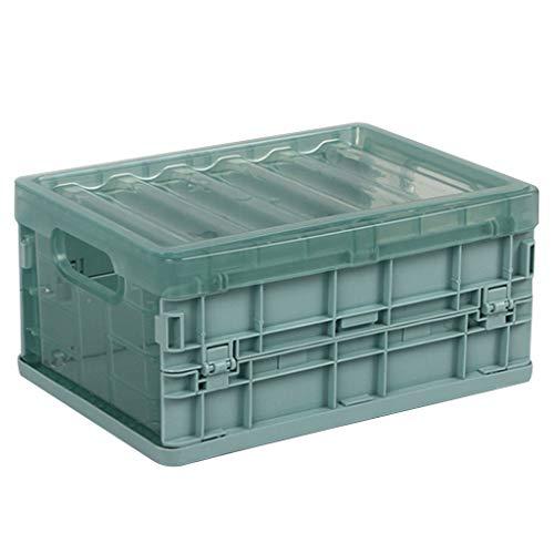Faltbare Aufbewahrungsbox Klappboxen Klappkisten Faltbar, Klappbox PP Box Klappkiste Einkaufskorb Faltbox Aufbewahrungskörbe Aufbewahrungsbox Schubladen Ordnungssystem (L, Blau)