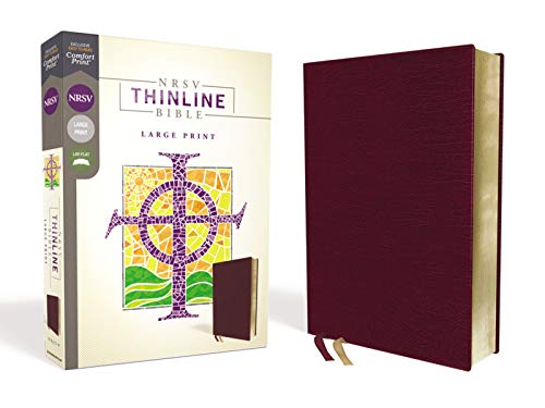 Compare Textbook Prices for NRSV, Thinline Bible, Large Print, Bonded Leather, Burgundy, Comfort Print Large Print Edition ISBN 9780310452546 by Zondervan