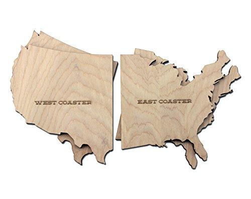East West Coast Drink Coasters