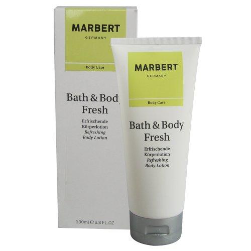 Marbert Bath & Body Fresh femme/women, Refreshing Body Lotion, 1er Pack (1 x 200 ml)