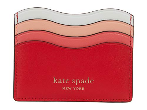 Kate Spade New York Puffy Card Holder Coral Rose Multi One Size