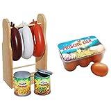 Tanner 0304.8 - Wurstständer aus Holz & 0312.3 - 6 Eier in Box