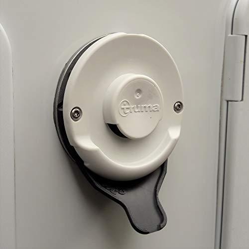 Manufaktur3D Kondenswasserablauf Kaminschild Ablauf für Deckel Kamindeckel Kaminabdeckung Abgaskamin der Heizung an Wohnmobil Caravan (Typ Truma, Schwarz)
