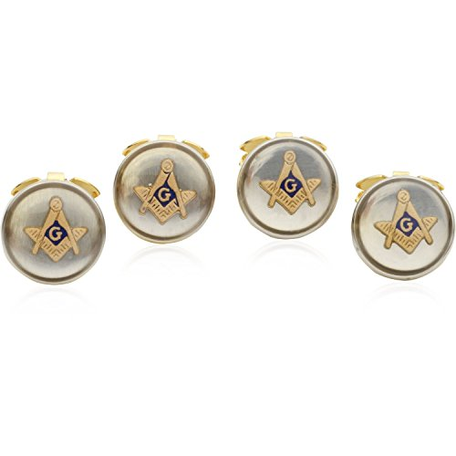 Cuff-Daddy 4 Masonic Button Covers with Presentation Box