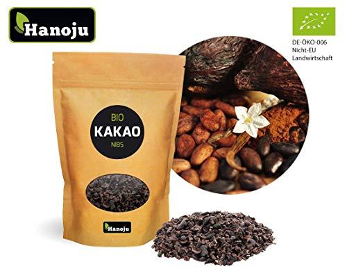 Hanoju Kakao (Thebroma cacao) Nibs, im Paperbag, Bio-zertifiziert, 1er Pack (1 x 1 kg) - aus kontrolliert biologischem Anbau