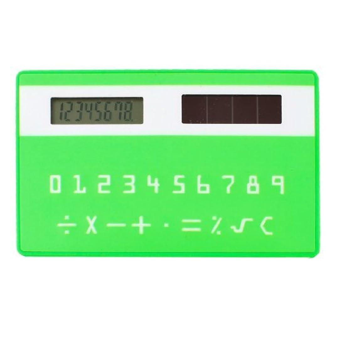妖精ラウズ知的DealMuxプラスチックカードスタイル8桁LCDポケット電卓、グリーン