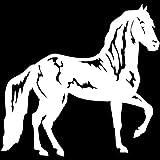 2 pièces, autocollants de voiture et décalcomanies noir cheval vue latérale selle mode voiture voiture Graffiti autocollant autocollants autocollants pour voiture vinyle pour ordinateur portable