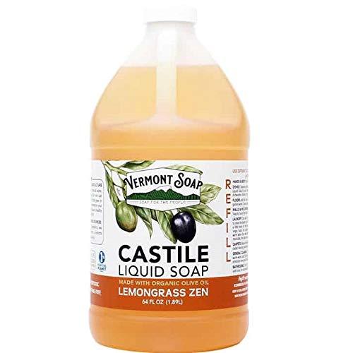 Vermont Soap Liquid Castile Soap (Lemongrass Zen, 64oz)
