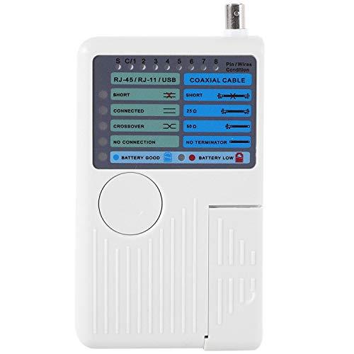 VORA Probador de Rojo 4 en 1 Probador de Cable Coaxial RJ11 / RJ45 / USB/BNC