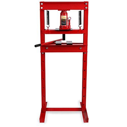 EBERTH 12T Presse hydraulique d'atelier (635 mm Hauteur de travail, Réglable 8 niveaux, 425 mm Largeur de travail)