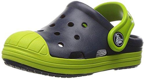 Crocs Kids' Bump It Clog, Navy/Volt Green, 7 M US Toddler