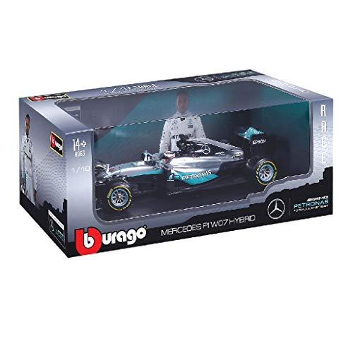 Burago 1/18 Scale 18-18001 - Mercedes F1 W07 Hybrid - Nico Rosberg