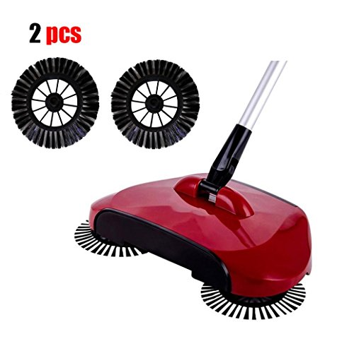 Kanzd Home Use Magic Manual Telescopic Floor Dust Sweeper Side Brush (Black)