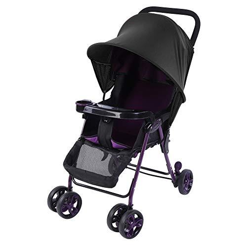 Dibiao Cochecito de Bebé para Niños Silla de Paseo Parasol Protección Uv de Verano Cubierta de Dosel para Buggy (Negro)