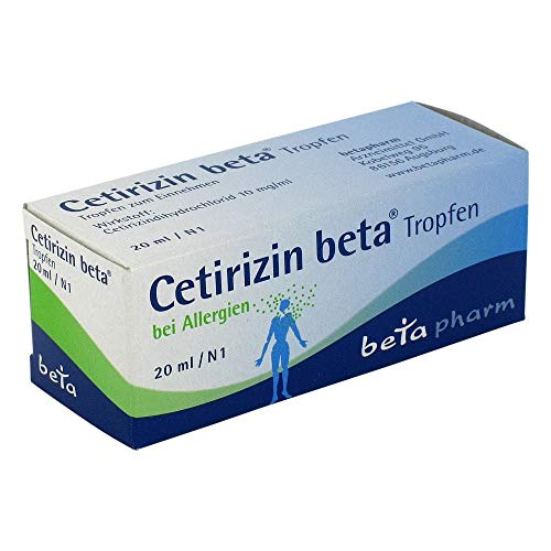CETIRIZIN beta Tropfen zum Einnehmen 20 ml