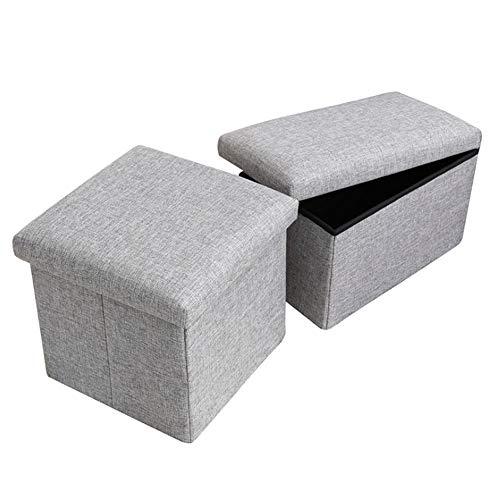 LCSJ 2 Stück Multifunktional Laborhocker Faltbare Aufbewahrungsbox Kann Beherbergen Alle Arten Von Kleidung Schuhe ZubehöR Diverses,Gray