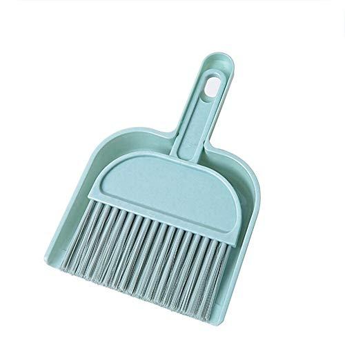 Nmyz Recogedor PC 1 Barrido Escoba mágica Mini Escritorio Cepillo de Limpieza Escoba pequeña Mango de la Escoba de Limpieza del hogar Escoba barredora Plegable (Color : Sky Blue)