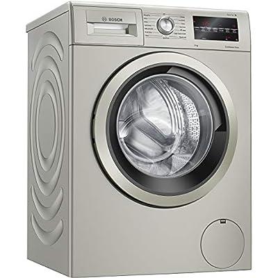 Bosch WAU28TS1GB Serie 6 Freestanding Washing Machine with Home Connect, SpeedPerfect & AllergyPlus, 9kg load, 1400 rpm spin, Silver Inox