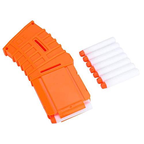 VGEBY Bullet Clip 10 Darts Soft Bullet Magazine Clip Reload Clips Holder Reemplazo para Accesorio de Pistola de Juguete