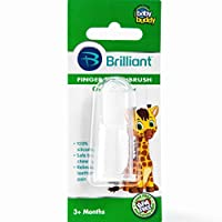 Baby Buddy Finger Toothbrush Stage 2 for Babies/Toddlers, Kids Love Them, Clear by Baby Buddy