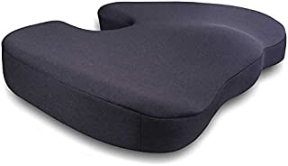 Memory Foam Seat Cushion Pillow Orthopedic Design to Relieve Back Tailbone and Sciatica Pain