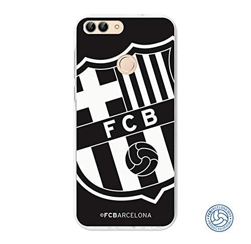 FC. Barcelona Carcasa Escudo Grande Negro para Huawei P Smart
